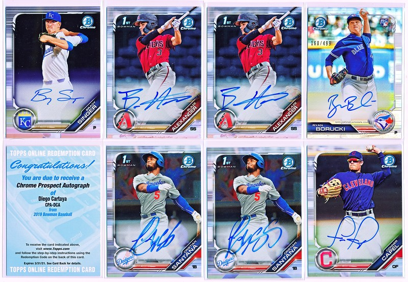 2019 Bowman Inserts Top 100 Ready Show Talent 30th Anniversary Singles You Pick