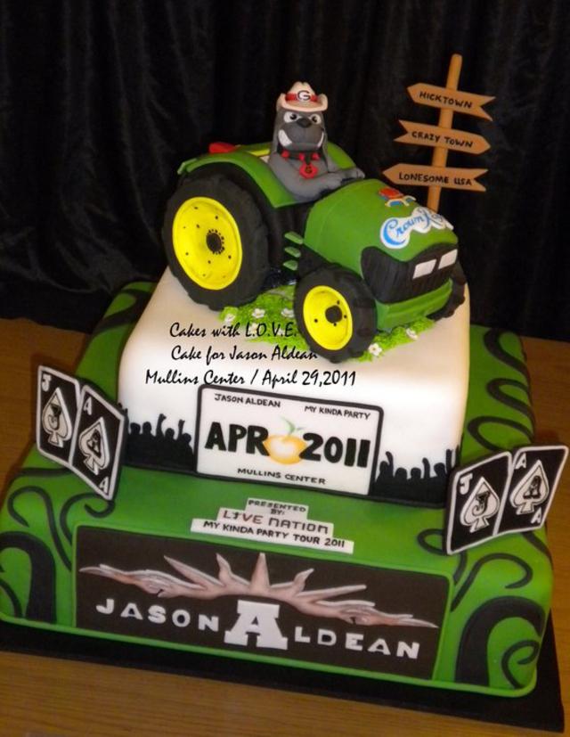 """The cake was custom made by local """"Cakes with L.O.V.E.""""  www.cakeswlove.webs.com"""