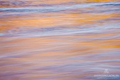 Muskoka River Details at Sunset, Bracebridge, Ontario, Canada