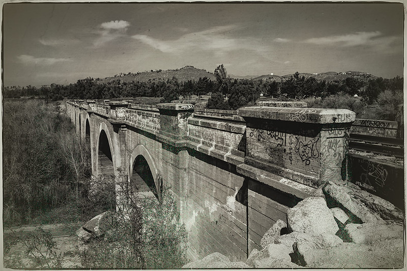 Train Bridge over Santa Ana River