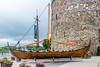 REPUBLIC OF IRELAND-WATERFORD-VIKING SHIP REPLICA AND REGINALD'S TOWER