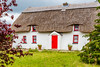 REPUBLIC OF IRELAND-WEXFORD-THATCHED ROOF HOUSE