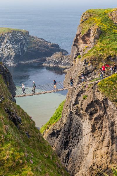 NORTHERN IRELAND-CARRICK-a-REDE ROPE BRIDGE-GAME OF THRONES SCENE