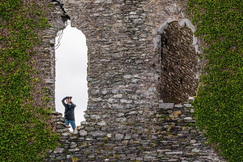 REPUBLIC OF IRELAND-RING OF KERRY-CAHIRSIVEEN-BALLYCARBERY CASTLE