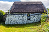 REPUBLIC OF IRELAND-BALLYVAUGHAN-THATCHED ROOFED HOUSE