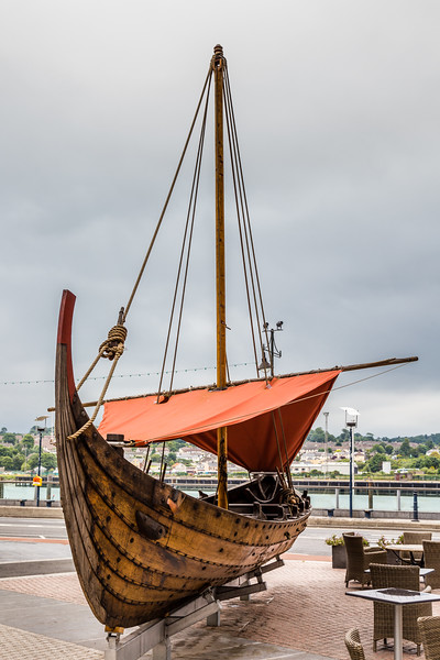 REPUBLIC OF IRELAND-WATERFORD-VIKING SHIP REPLICA
