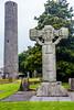 REPUBLIC OF IRELAND-KELLS-KELLS MONASTERY HIGH CRORSS AND ROUND TOWER