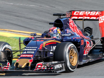 Max Verstappen making his Formula 1 debut