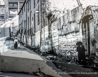 Street Painting of Brown Bear Lane 1901
