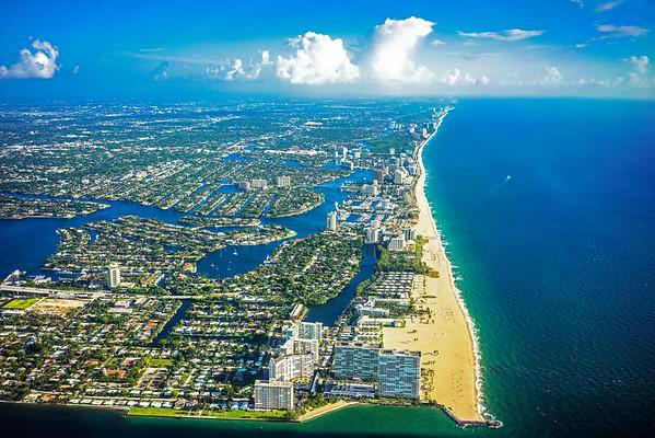Fort Lauderdale Beach Aerial.