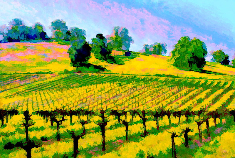 ART - Vineyard Impressions - Spring #1