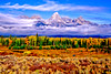 Teton Autumn Overlook with fog #1