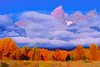 Middle Tetons in Autumn Morning