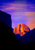 ART-Half Dome sillouetted between canyon walls #1