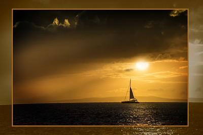 Maui Sunset Matted