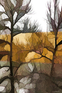 Stained Glass Trees I