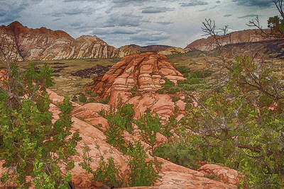 Snow Canyon Scene, UT