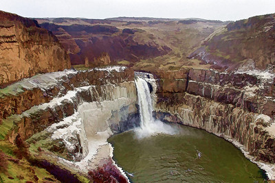 Big Freeze at Palouse Falls