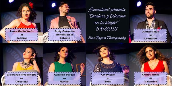 """Escandalo presents """"Catalina y Celestina en la playa!"""" 5/5/2018"""