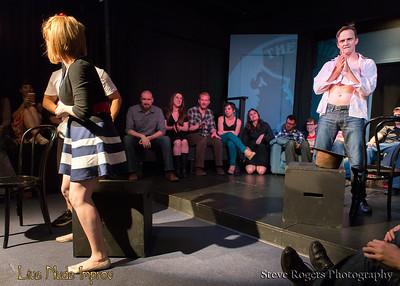 Scenes from Live Nude Impro at the 2013 Improvised Play Fest