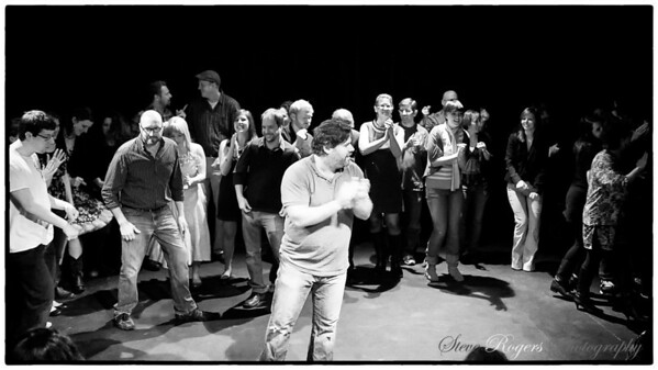 79 improv people broken into three groups to provide entertainment on the penultimate day of the year