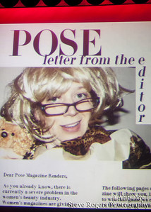 POSE Magazine is a women's magazine for women. In this show, Sue Galloway will put the magazine back where it belongs: on stage. As the pages turn, you'll learn more than you ever wanted to know about living life the way a magazine suggests you should.