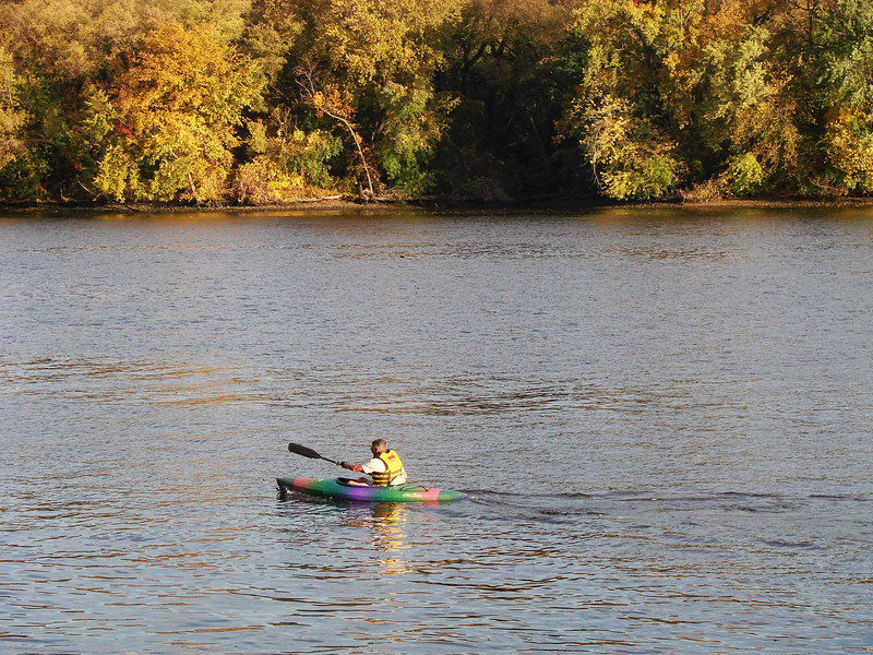 Bob kayaking in the Hudson