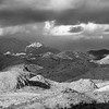 Storm Over the Mountains in Black and White