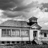 Pioneer School in Black and White