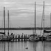 Sittin on the Dock of the Bay in Black and White
