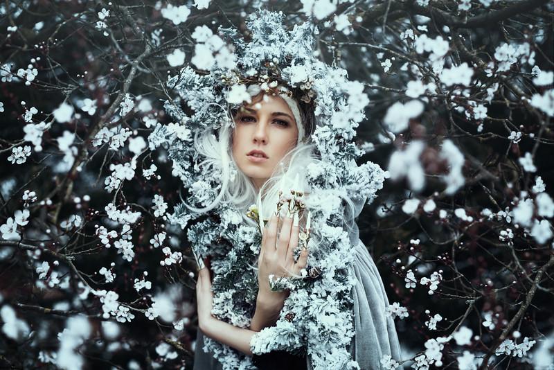 Under deep snow, lay a thousand sleeping buds...