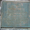 Closeup of the bronze plaque