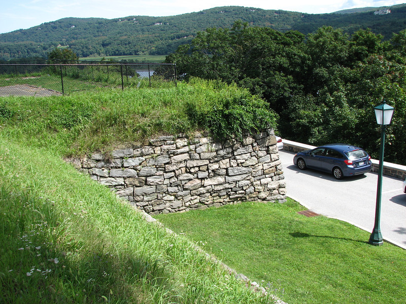 View as you approach the old Fort Arnold wall.