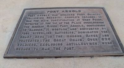 "This plaque gives the history of Fort Arnold, and is on the rampart of Fort Putnam, high on the hill behind the site of Fort Arnold. See this website for details:  <a href=""http://www.hmdb.org/marker.asp?marker=58562"">http://www.hmdb.org/marker.asp?marker=58562</a><br /> See also my gallery on Fort Putnam."