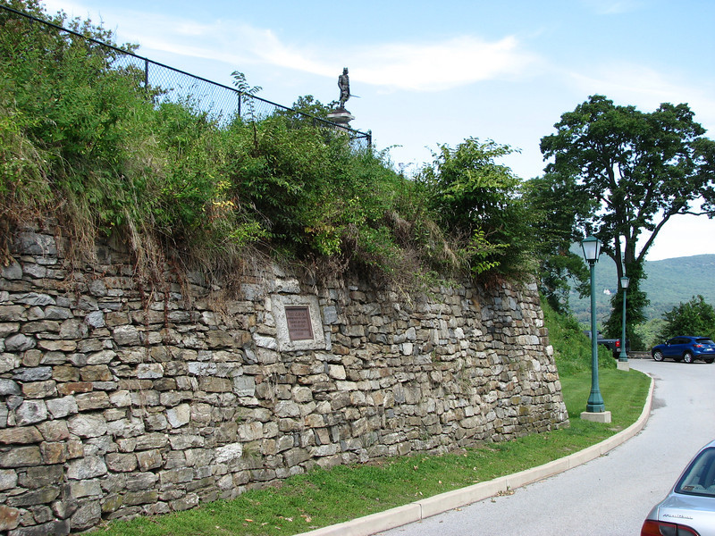 Wall showing the plaque.