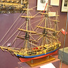 Model of the British warship HMS Vulture, which brought Andre to the rendezvous with Arnold, and to which Arnold fled when the treason was discovered