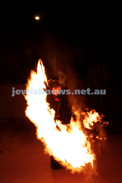 2-5-187. Lag B'Omer fire show at Chabad Glen Eira. Photo: Peter Haskin