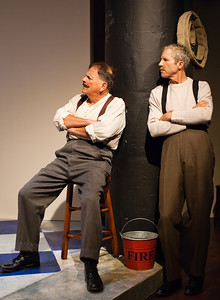 Word for Word's 20th Anniversary production In Friendship by Zona Gale, at Z Below 8/14 through 9/8.L to R: Paul Finocchiaro, Joel Mullennix. Photo by Jessica Palopoli