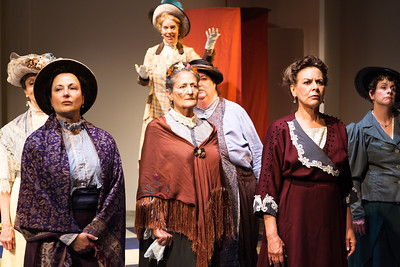 Word for Word's 20th Anniversary production In Friendship by Zona Gale, at Z Below 8/14 through 9/8.L to R: Nancy Shelby, Jeri Lynn Cohen, Stephanie Hunt (above), Patricia Silver, Amy Kossow, Sheila Balter, JoAnne Winter. Photo by Jessica Palopoli