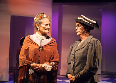 Word for Word's 20th Anniversary production In Friendship by Zona Gale, at Z Below 8/14 through 9/8.L to R: Patricia Silver, JoAnne Winter.Photo by Jessica Palopoli