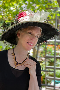 Stephanie Hunt as Mrs. Oliver Wheeler Johnson. In Friendship.Photo credit:  Mark Leialoha    Word for Word's 20th Anniversary production In Friendship, A comedy of American manners by Zona Gale.