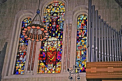 A Beautiful Stain Glass Window in the National Shrine of the Immaculate Concept