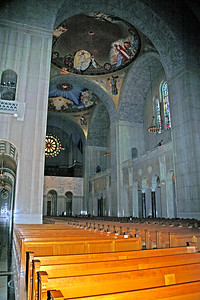The Nave of the National Shrine in Washington