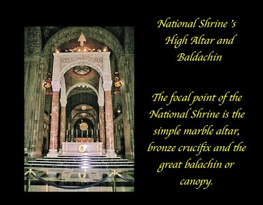 Main Altar and Baldachin in the National Shrine