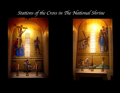 The Stations of the Cross in The National Shrine of the Immaculate Conception