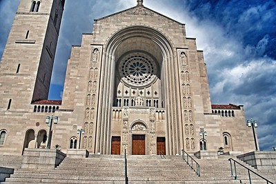 Front Facade of the  National Shrine in Washington