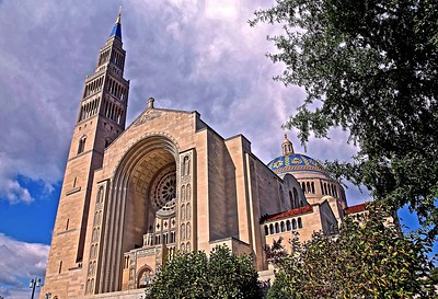 The Beautiful Catholic National Shrine in Washington
