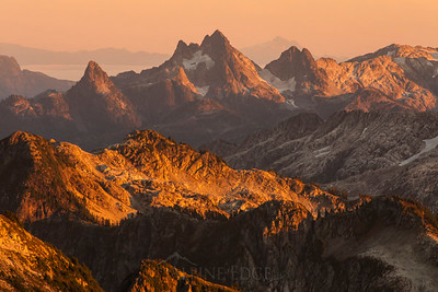Alpenglow on the Five Fingers Group (also known as The Five Fingers).
