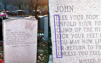 Headstone With Hidden Message