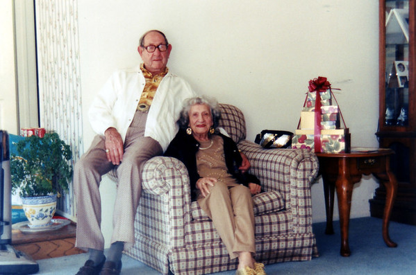 My grandmother and Jim, December 25, 1997.